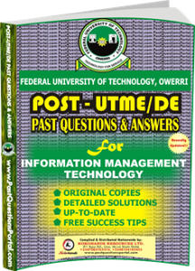 FUTO Post UTME Past Question for Information Management Technology