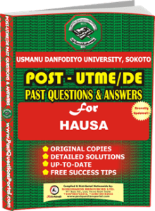 UDUS Post UTME Past Question for HAUSA