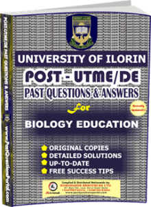 UNILORIN Post UTME Past Question for Education Biology
