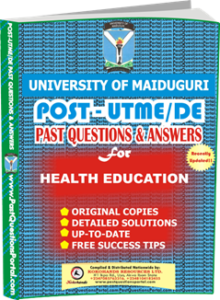 UNIMAID Post UTME Past Question for Health Education