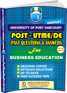 UNIPORT Post UTME Past Question for BUSINESS EDUCATION