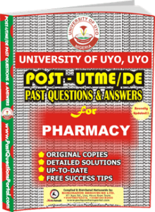 UNIUYO Post UTME Past Question for Pharmacy