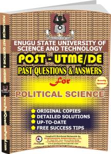 ESUT Post UTME Past Questions for POLITICAL SCIENCE
