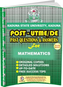 KASU Post UTME Past Questions for MATHEMATICS