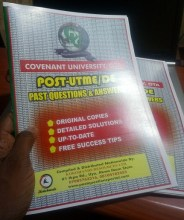 PNG2_Covenant University Post UTME Past Questions and Answers Booklet
