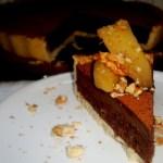 {Autumn Chocolate Tart} – Tarta cu ciocolata si gutui in sirop