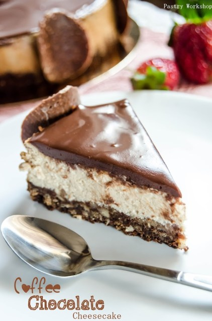 coffee and chocolate cheesecake