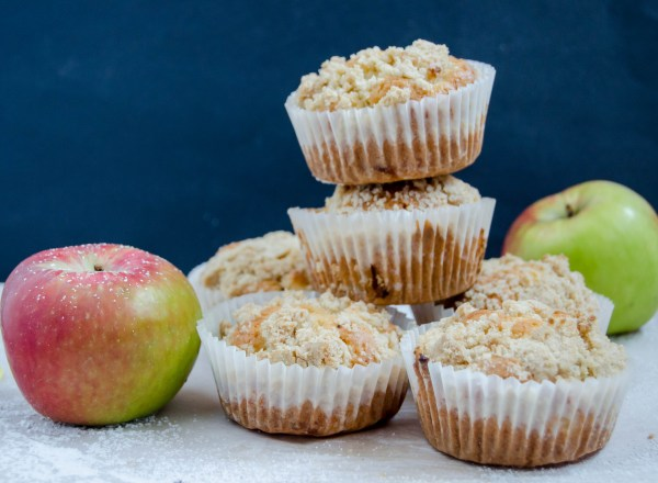 streusel apple muffins