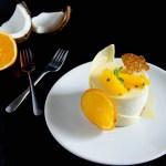 {White Chocolate Passion Fruit Entremet} – Tort cu mousse de ciocolata alba si fructul pasiunii