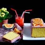 {Blood Orange Polenta Cake} – Chec cu malai si portocale rosii