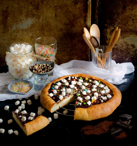chocolate brioche pizza