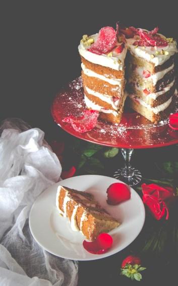 pistachio rose cake-1-23