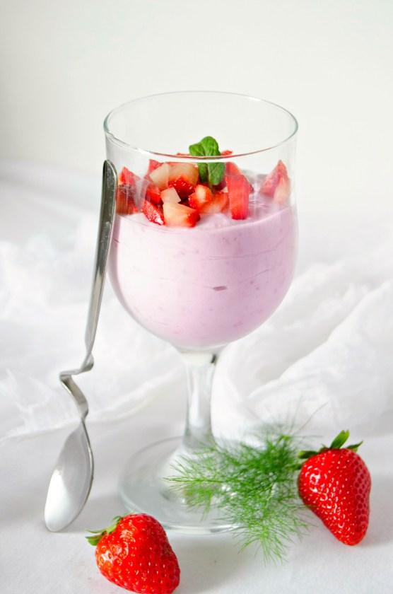 vegan strawberry mousse