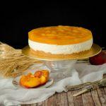 {No Bake Peach Cheesecake} – Cheesecake fara coacere