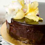{Chocolate Peach Entremet} – Entremet cu piersici si ciocolata