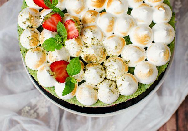 matcha fraisier