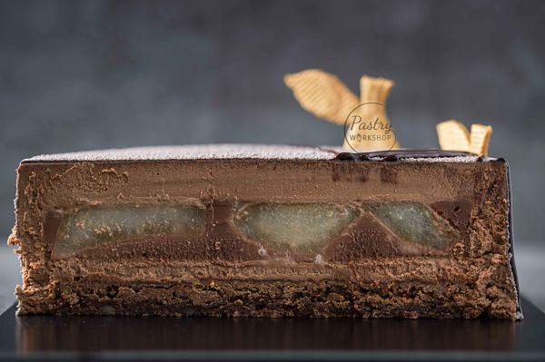 entremet cu pere si ciocolata