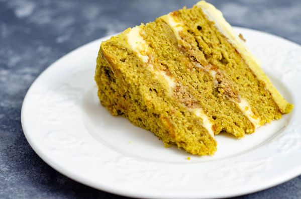 slice of pistachio cake