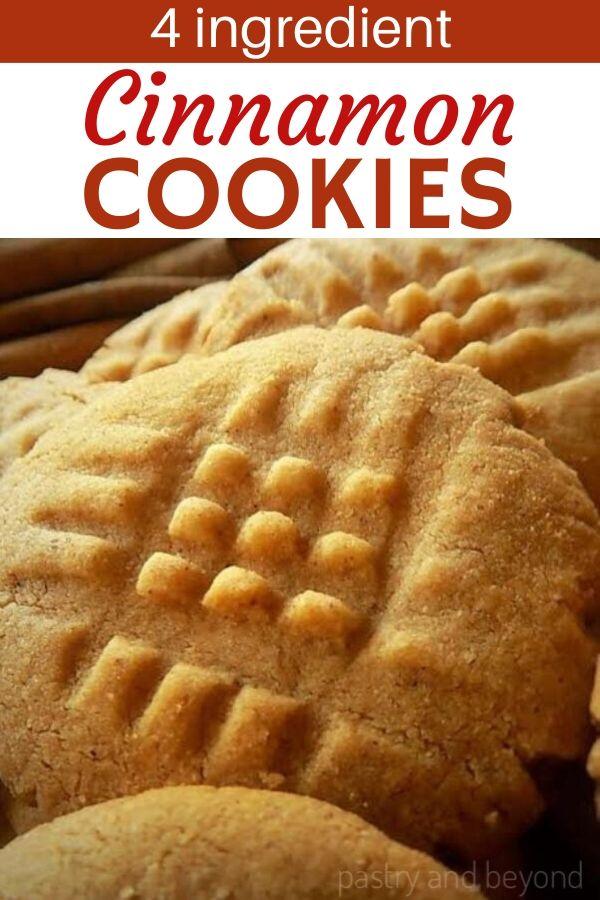 4 Ingredient Easy Cinnamon Cookies
