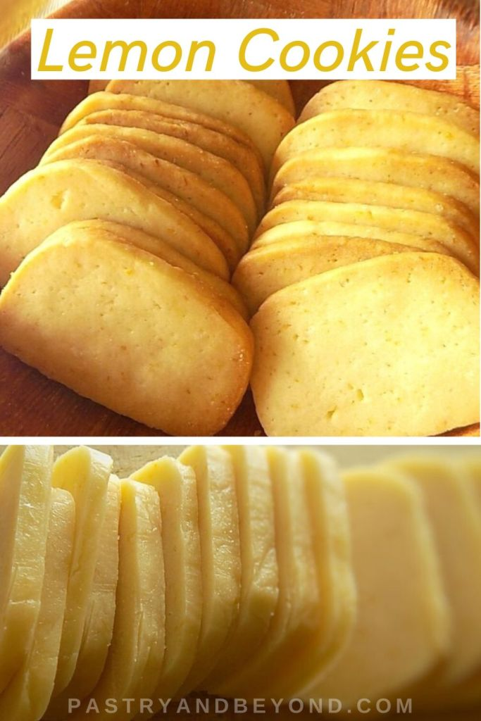 Lemon Slice and Bake Cookies before and after baked.