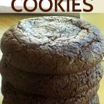 Stacked chocolate cookies