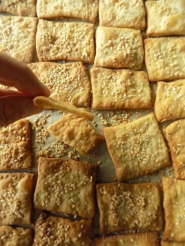 Sesame Seed Olive Oil Crackers