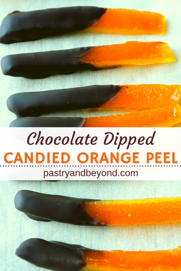 Chocolate Dipped Candied Orange Peel