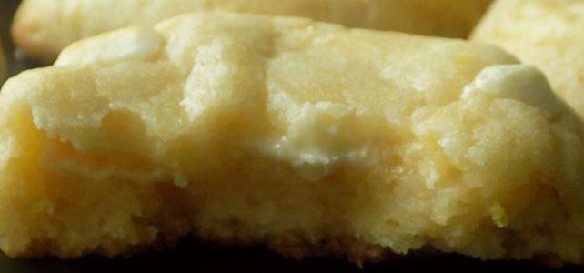 Chewy Lemon & White Chocolate Cookies