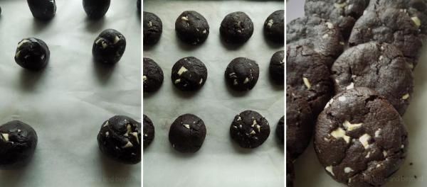 Making balls out of the dough and baking.