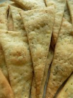 Dill crackers on top of each other.