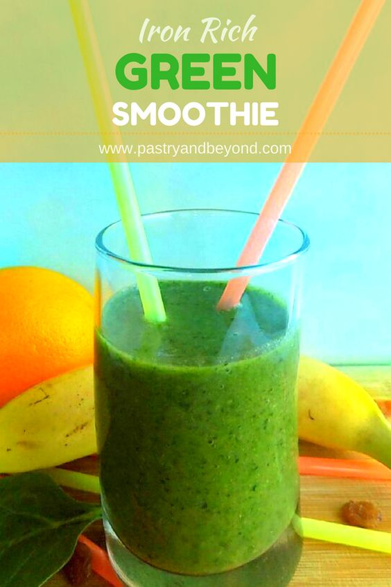 GREEN SMOOTHIE RICH IN IRON