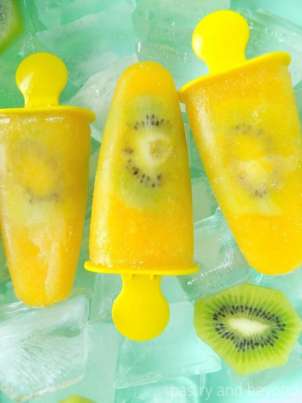 Orange and Kiwi Popsicles