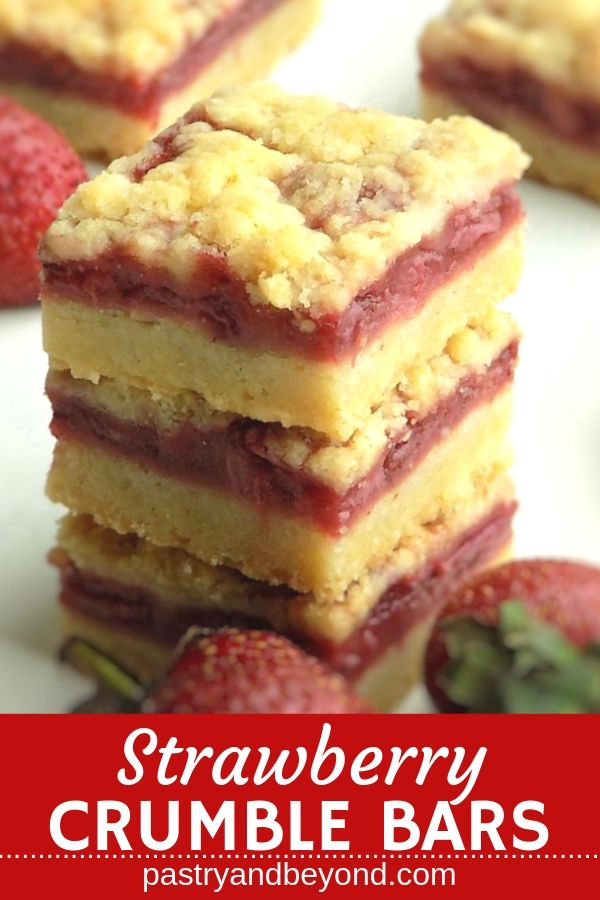 5 Ingredient Strawberry Crumble Bars