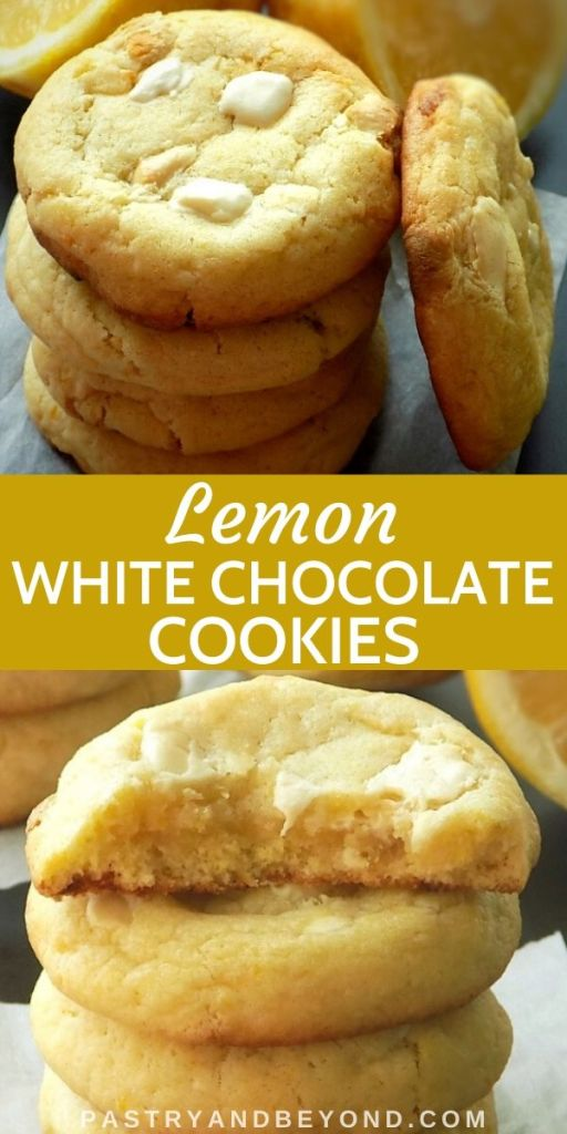Pin of Lemon White Chocolate Cookies