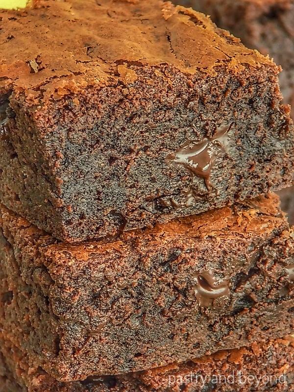 Stacked Chocolate Fudge Brownies