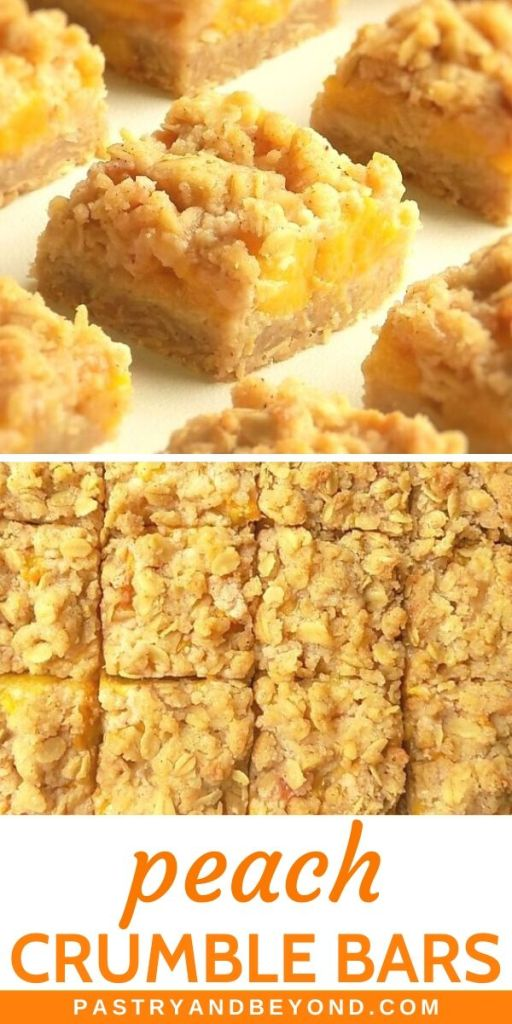 Pin for peach crumble bars.