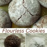 Flourless crinkle cookies
