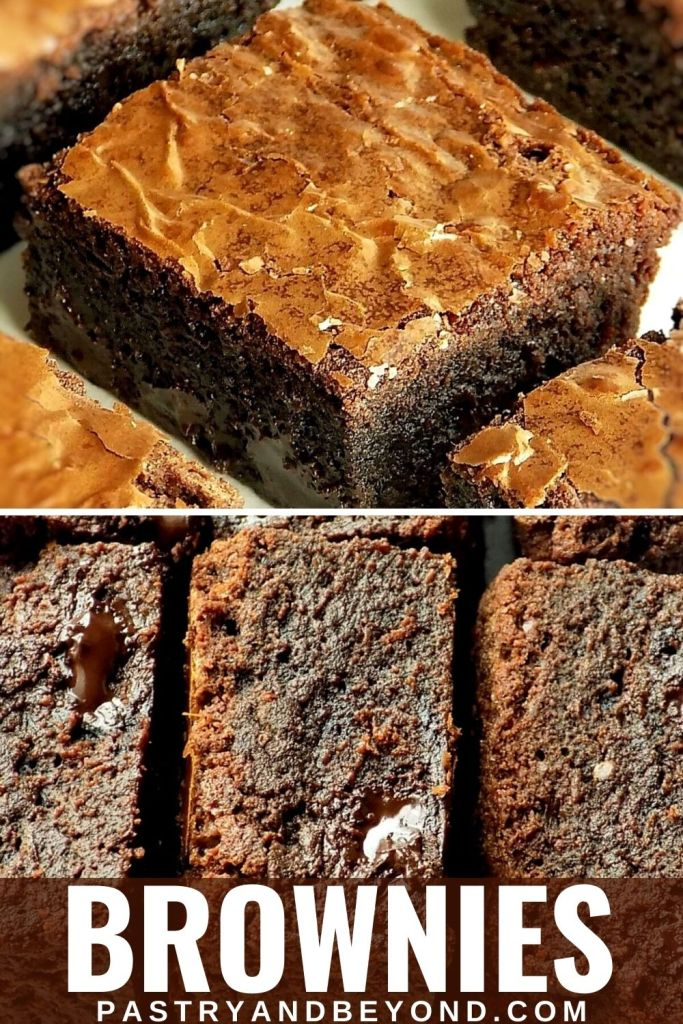 Brownies with text overlay.
