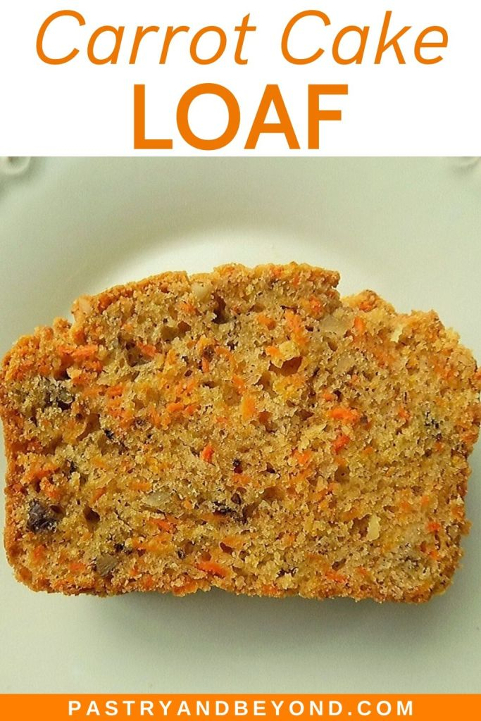 slice of carrot cake loaf