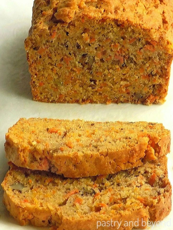 Sliced Carrot Cake Loaf