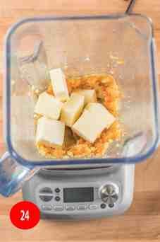 add butter to blender