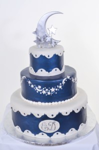 Pastry Palace Las Vegas - Wedding Cake #590 - Moon & Stars