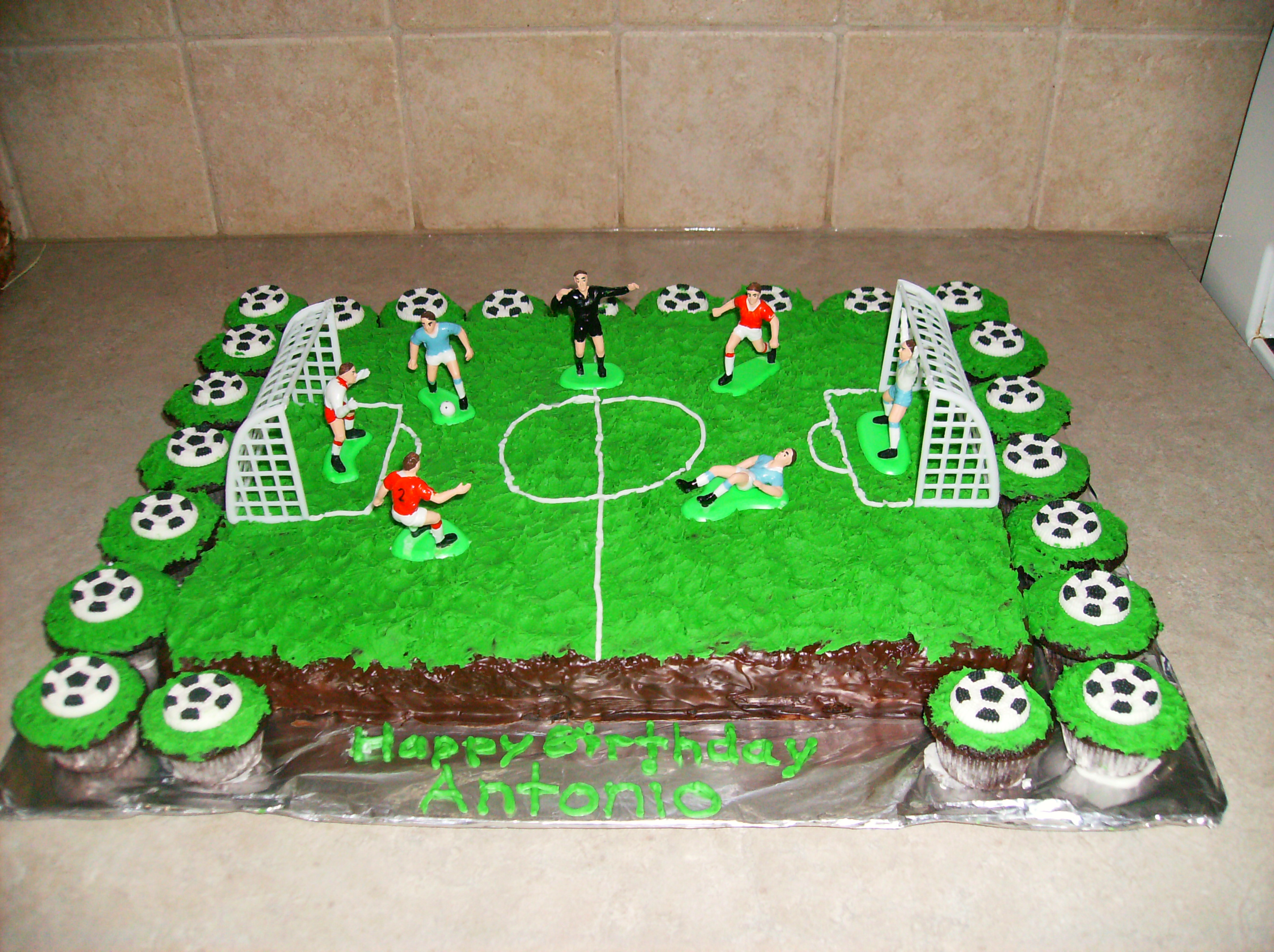 Soccer Theme Birthday Cake Pastry Passion