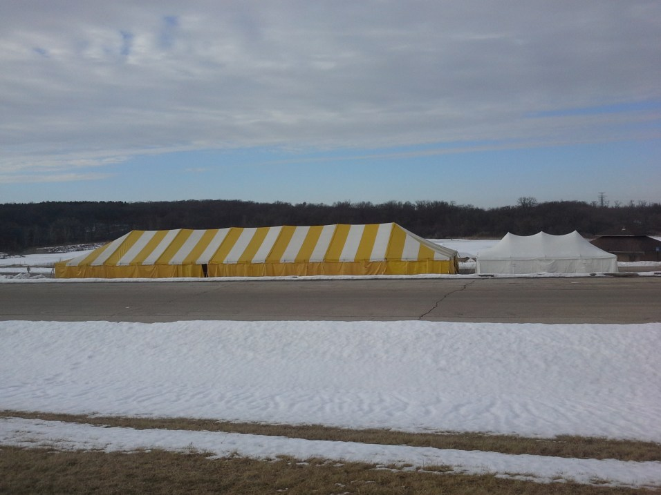 Tents for Polar Bear Plunge