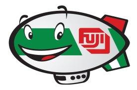 Fuji Blimp character sticker