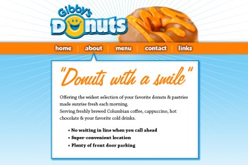Custom logo and website template