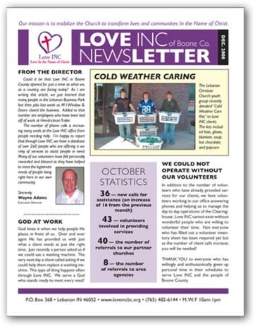 Love INC newsletter
