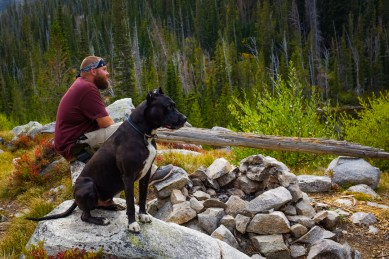 enjowing the view of camas lake from the high camp site montana