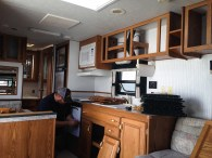 Disassembling the Cabinets in our travel trailer remodel to tiny house