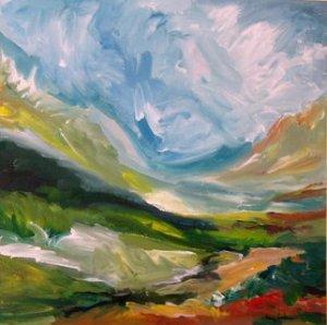 "Painting ""Glory"" by Nancy Goddenow"